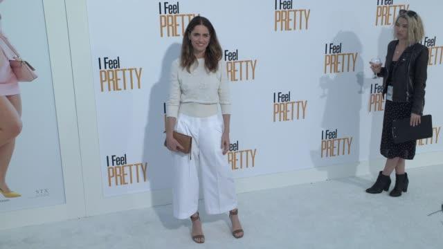 amanda peet at the i feel pretty world premiere at westwood village theatre on april 17 2018 in westwood california - amanda peet stock videos & royalty-free footage