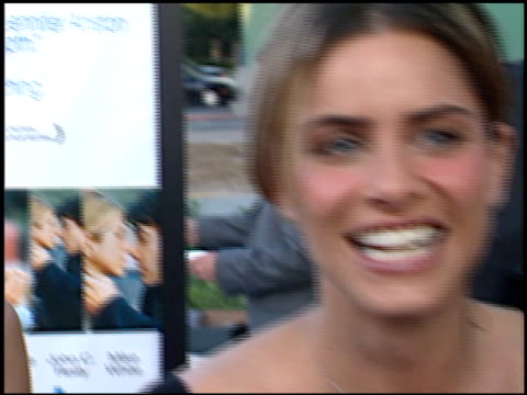 amanda peet at the premiere of 'the good girl' at pacific design center in west hollywood california on august 7 2002 - amanda peet stock videos & royalty-free footage