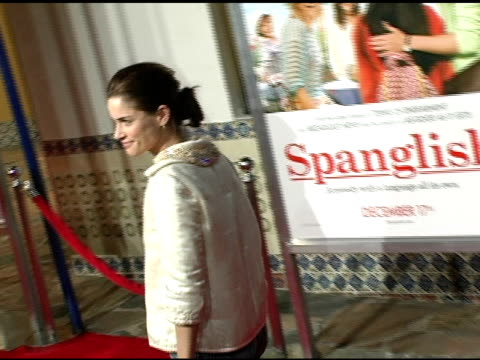 amanda peet at the 'spanglish' premiere at the mann village theatre in westwood california on december 9 2004 - spanglish stock videos & royalty-free footage