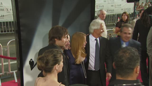 Amanda Peet Chris Carter David Duchovny Gillian Anderson at the 'The XFiles I Want to Believe' premiere at Los Angeles CA