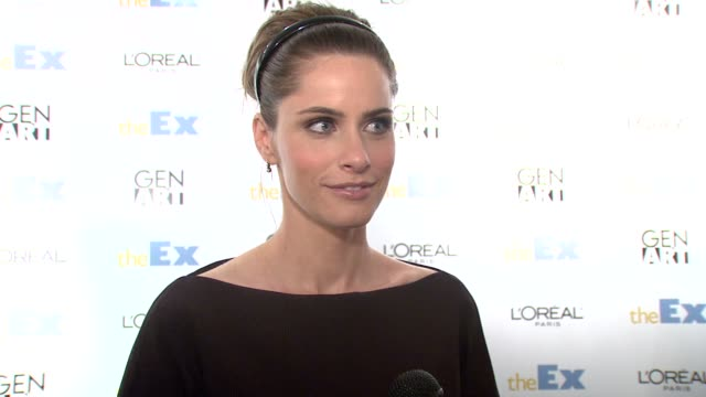 amanda peet on how she become involved with the film she is great friends with jesse and has been begging him to put her in one of his movies for... - amanda peet stock videos & royalty-free footage