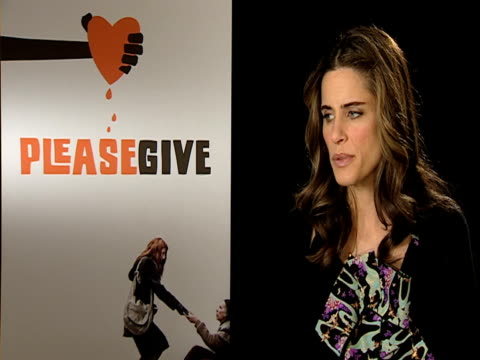 amanda peet on how there are a lot of people who are enslaved by their love of fake tan on how she's vain and understands it at the please give... - amanda peet stock videos & royalty-free footage