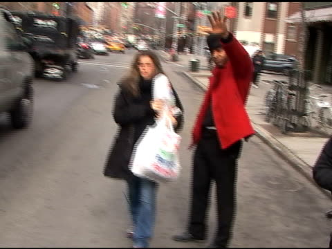 amanda peet walks in the west village at the celebrity sightings in new york at new york ny - amanda peet stock videos & royalty-free footage