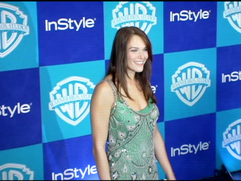 Amanda Righetti at the InStyle/Warner Brothers Golden Globes Party at the Beverly Hilton in Beverly Hills California on January 16 2006