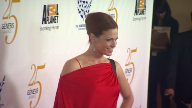 Amanda Righetti at the The 25th Anniversary Genesis Awards Presented By The Humane Society Of The United States at Century City CA