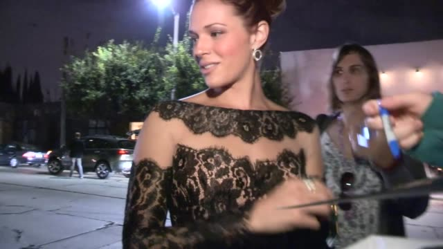 Amanda Righetti greets fans at 2013 Entertainment Weekly Pre Emmy Party in WeHo at Celebrity Sightings in Los Angeles Amanda Righetti greets fans at...