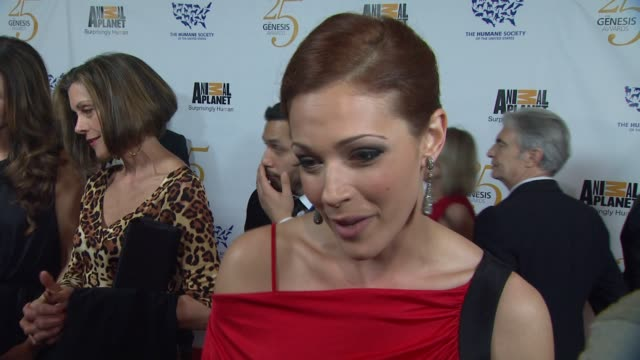 Amanda Righetti on the event pets progress at the The 25th Anniversary Genesis Awards Presented By The Humane Society Of The United States at Century...