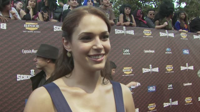 Amanda Righetti talks about the most exciting moments of filming and the scariest part of filming Friday the 13th at the Spike TV's SCREAM 2008 at...