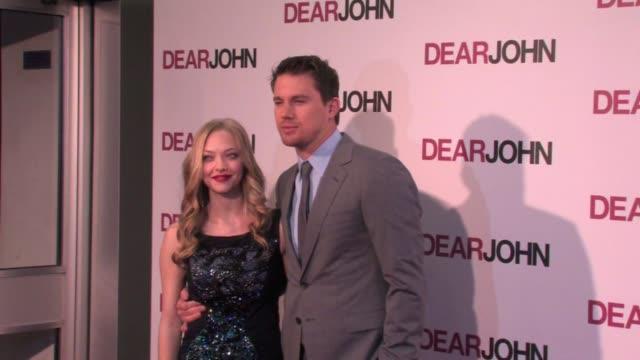 Amanda Seyfried and Channing Tatum attend the UK premiere of 'Dear John' on March 30 2010 in London England at the Dear John UK Premiere at London...