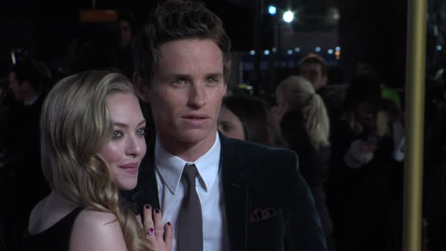 Amanda Seyfried and Eddie Redmayne at the World Premiere of Les Miserables at the Odeon Leicester Square on December 5 2012 in London England