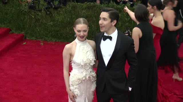 Amanda Seyfried and Justin Long at China Through The Looking Glass Costume Institute Benefit Gala Arrivals at Metropolitan Museum of Art on May 04...