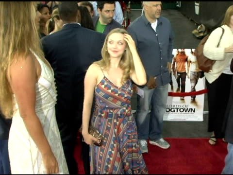 Amanda Seyfried at the 'Lords of Dogtown' World Premiere on May 24 2005