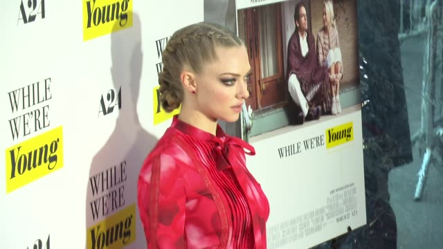amanda seyfried at while we're young new york premiere at the paris theatre on march 23 2015 in new york city - noah baumbach stock videos and b-roll footage