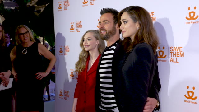 Amanda Seyfried Emmy Rossum and Justin Theroux at the Best Friends Animal Society's Benefit to Save Them All at Gustavino's on April 02 2019 in New...