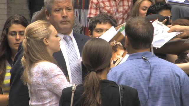 Amanda Seyfried greets fans at The Late Show with David Letterman at Celebrity Sightings in New York Amanda Seyfried greets fans at The Late Show...