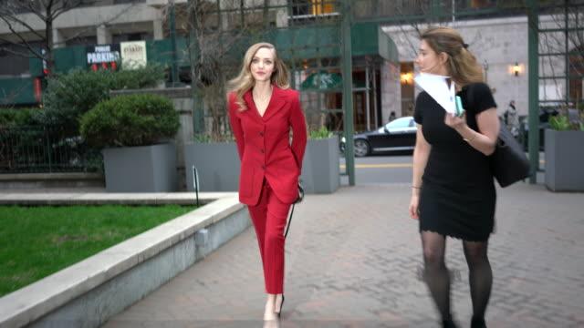 amanda seyfried is seen in midtown on april 02, 2019 in new york city. - celebrity sightings stock videos & royalty-free footage