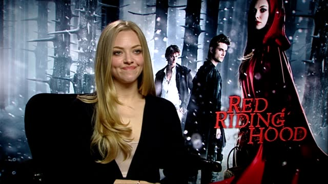 Amanda Seyfried on how she occasionally shows her morbid sense of humour and how she keeps it light on set at the Red Riding Hood Interviews at...