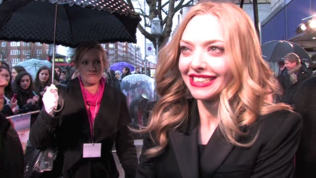 Amanda Seyfried on how she reacted to the film being number one in the US on defending her character's actions in the movie on how easy it was to...