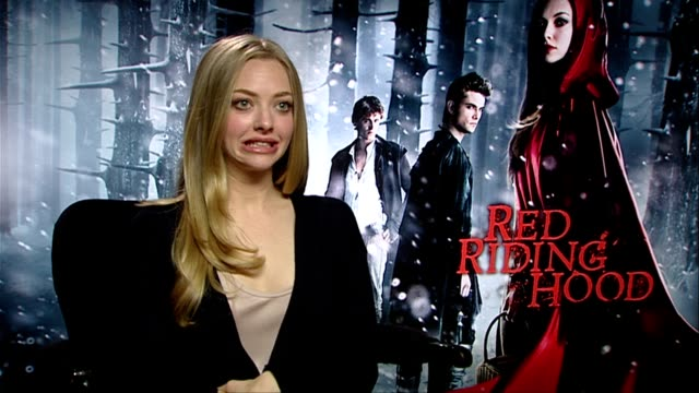 Amanda Seyfried on making out with 8 guys to work out who she had chemistry with at the Red Riding Hood Interviews at London England
