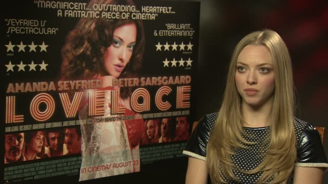 INTERVIEW Amanda Seyfried on preparing for the role what filming was like domestic violence at 'Lovelace' interview on August 22 2013 in London...