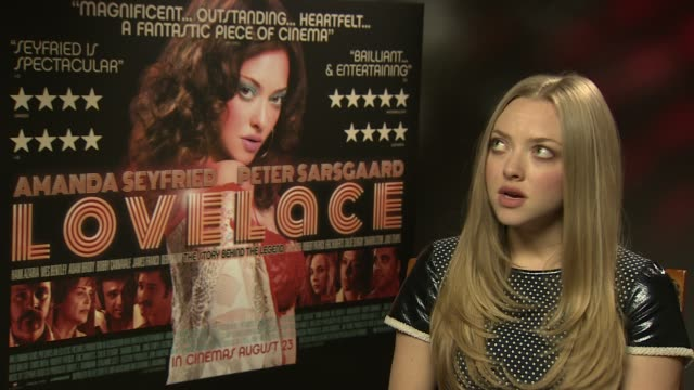 INTERVIEW Amanda Seyfried on working with Peter Sarsgaard at 'Lovelace' interview on August 22 2013 in London England
