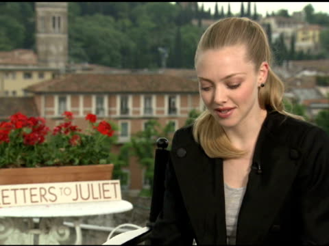 Amanda Seyfried on working with Vanessa Redgrave at the 'Letters To Juliet' Junket at Verona