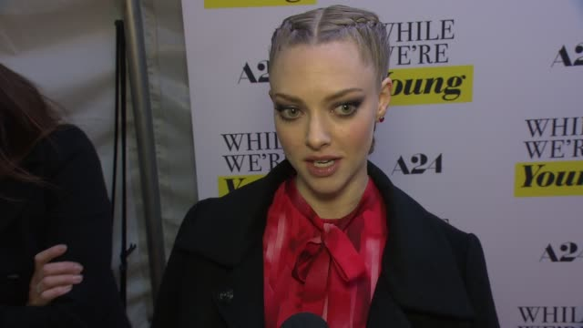 interview amanda seyfried talks about what it was like working with noah baumbach says he articulates things we know but haven't seen in movies while... - noah baumbach stock videos and b-roll footage
