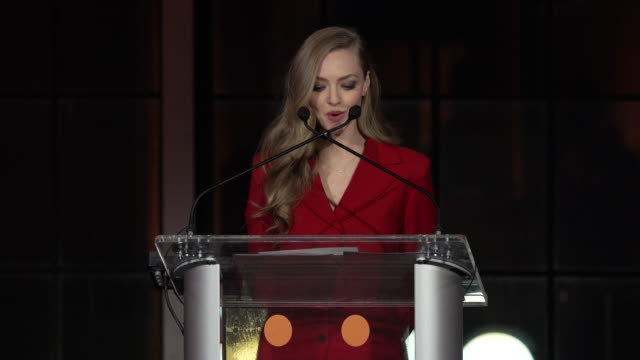 SPEECH Amanda Seyfriend presents an award to Justin Theroux at the Best Friends Animal Society's Benefit to Save Them All at Gustavino's on April 02...