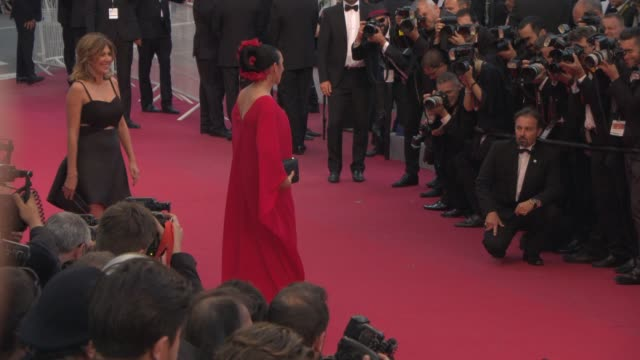 Amanda Sthers Rossy de Palma at 'Irrational Man' Red Carpet at Palais des Festivals on May 15 2015 in Cannes France