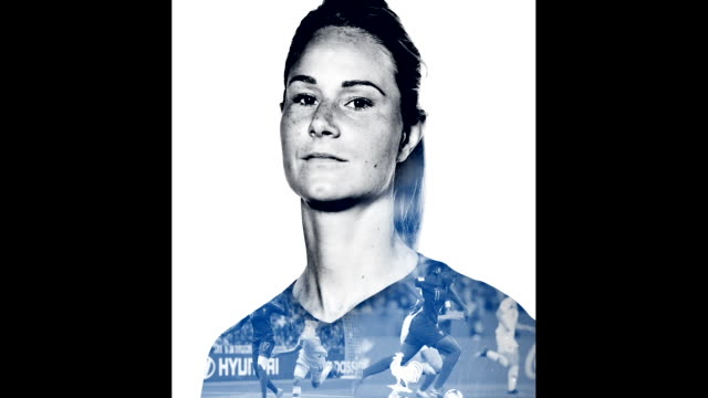 amandine henry of france poses for a portrait during the official fifa women's world cup 2019 portrait session at hotel clairefontaine on june 04... - fifa stock videos and b-roll footage