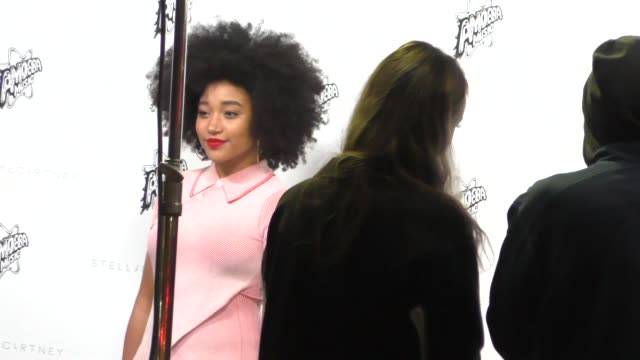 Amandla Stenberg arrives to the Stella McCartney Autumn 2016 Presentation at Amoeba Records in Hollywood in Celebrity Sightings in Los Angeles
