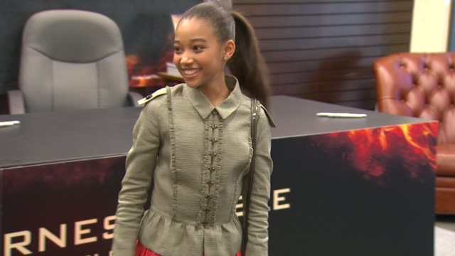 amandla stenberg at barnes noble celebrates the hunger games los angeles release on 3/22/12 in los angeles ca - barnes & noble stock videos and b-roll footage