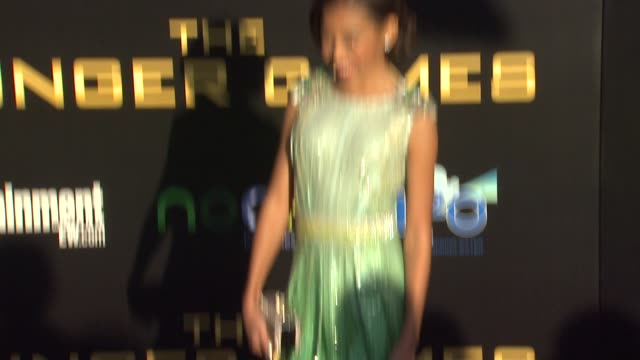 Amandla Stenberg at The Hunger Games World Premiere on 3/12/2012 in Los Angeles CA