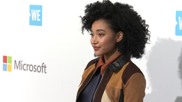 amandla stenberg at we day california at the forum on april 07 2016 in inglewood california - inglewood stock videos and b-roll footage