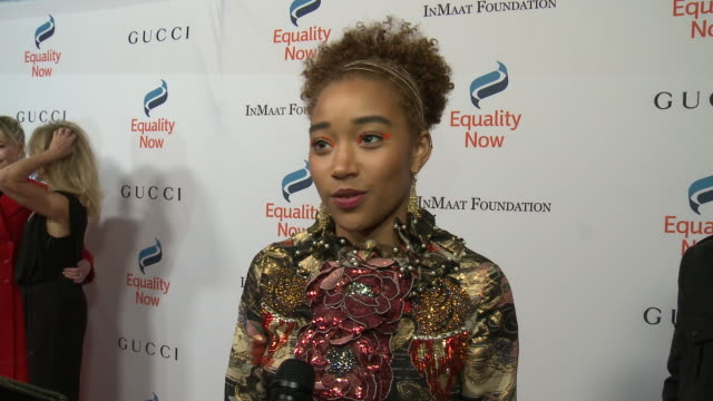 interview amandla stenberg on what it means to be receiving this honor why its important to support women girls rights her hopes for 2019 at equality... - equality now stock videos and b-roll footage