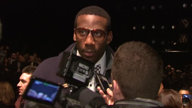amare stoudemire attends the tommy hilfiger fall 2011 show during mercedesbenz fashion week fall 2011 at the tommy hilfiger fall 2011 mbfw at new... - tommy hilfiger designer label stock videos and b-roll footage