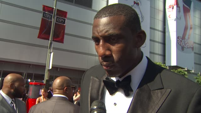 Amar'e Stoudemire on why he chose the Knicks his hopes for the team and his thoughts on the Lebron decision at the ESPN's 2010 ESPYs at Los Angeles CA