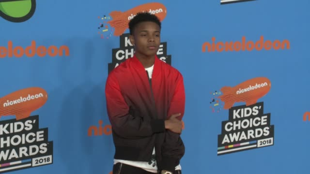 amarr wooten at the nickelodeon's 2018 kids' choice awards at the forum on march 24 2018 in inglewood california - nickelodeon kid's choice awards video stock e b–roll