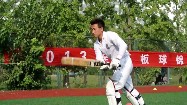 amateur cricketers are put through their paces in beijing as the sport tries to gain a foothold in china despite a lack of government support clean... - wicket stock videos and b-roll footage