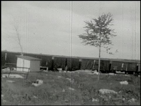 [amateur film: ice harvest, camp minsi, 1921] - 1 of 14 - 1921 stock-videos und b-roll-filmmaterial