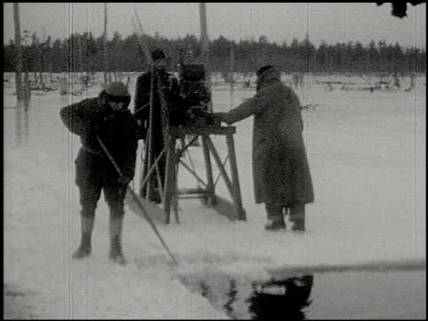 [amateur film: ice harvest, camp minsi, 1921] - 13 of 14 - see other clips from this shoot 2035 stock videos & royalty-free footage