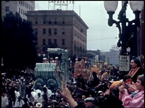 [amateur film: parade of krewe of rex, new orleans, february 25, 1941] - 3 of 9 - parade of krewe of rex stock videos & royalty-free footage