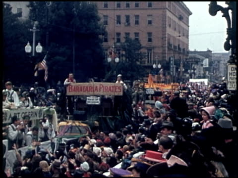 [amateur film: parade of krewe of rex, new orleans, february 25, 1941] - 5 of 9 - parade of krewe of rex stock videos & royalty-free footage