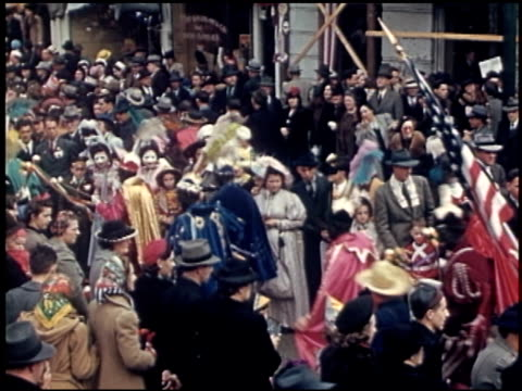 [amateur film: parade of krewe of rex, new orleans, february 25, 1941] - 6 of 9 - parade of krewe of rex stock videos & royalty-free footage