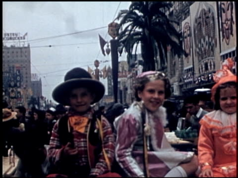 [amateur film: parade of krewe of rex, new orleans, february 25, 1941] - 8 of 9 - parade of krewe of rex stock videos & royalty-free footage