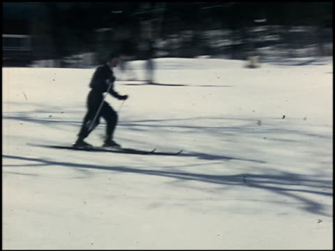 [amateur film: skiing] - 1 of 4 - see other clips from this shoot 2053 stock videos & royalty-free footage