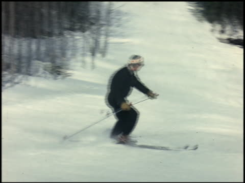 [amateur film: skiing] - 4 of 4 - see other clips from this shoot 2053 stock videos & royalty-free footage