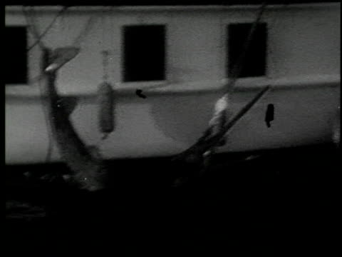 [amateur film: 'with rod and harpoon to the enchanted land of sport,' january 1930, part i] - 3 of 6 - harpoon stock videos and b-roll footage