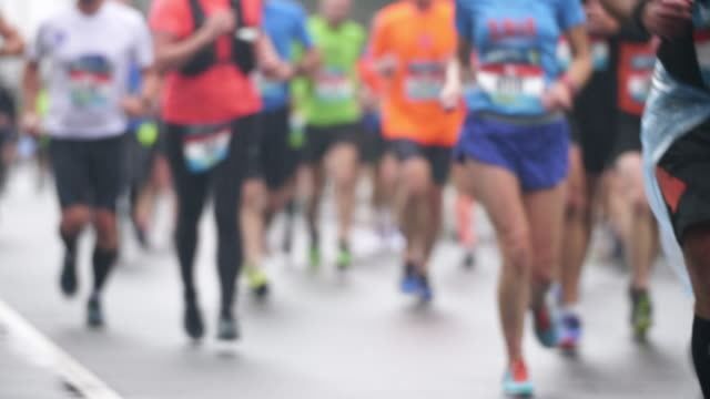 Amateur Marathon-Läufer