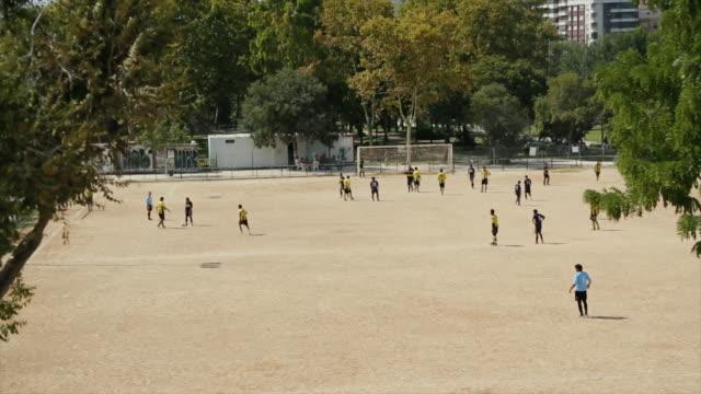 amateur soccer event - match sportivo video stock e b–roll